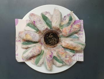 Rice Paper Rolls Vegetarian Platter