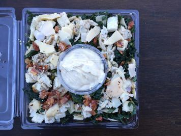 Kale Caesar with Chicken Salad Platter
